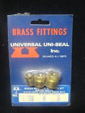 "Brass Fittings - Universal Uni-Seal (3) Adapter Kit - New 1/4, 3/8, 1/2 to 1/8"""