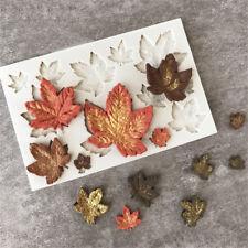 Cake Decor Silicone Fondant Mold Shaping Maple Leaves DIY Chocolate Sugarcraft~