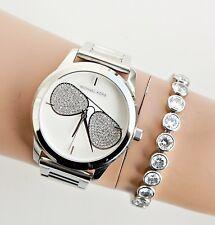 Original Michael Kors Uhr Damenuhr MK3672 Hartman Farbe:Silber NEU!