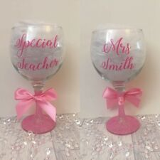 Personalised Gin Glass - Any Name - Teacher Gift