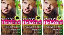 3 x GARNIER HERBASHINE HAIR COLOUR 730 DARK GOLDEN BLONDE 100% Brand New