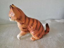 Vintage Orange Tabby Cat Figurine - Lefton # H2372