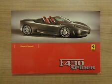Ferrari F430 Spider Owners Handbook/Manual