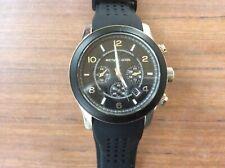 Michael Kors Mens Runway Chornograph Watch Black New Strap