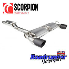 Scorpion Golf R32 MK4 Exhaust System Cat Back Resonated Black Tips SVW040C