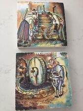 Set Of 2 Amalfi Collection / Art Tile Toscana Made In Italy.8� X 8� X 1�