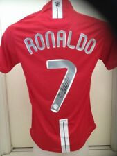 CRISTIANO RONALDO HAND SIGNED MANCHESTER UNITED 2008 CHAMPIONS LEAG JERSEY+PROOF