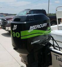 Mercury Outboard 90 hp Engine Decals  Marine Vinyl Lime Green 25 hp -  90 HP