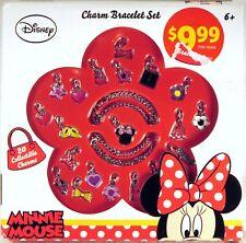 NEW DISNEY Minnie Mouse CHARM BRACELET SET 20 Collectible Charms AGES 6+