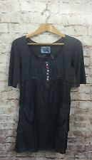 Desigual Dress Size 36 Small Gray Short Sleeve Buttons Pockets