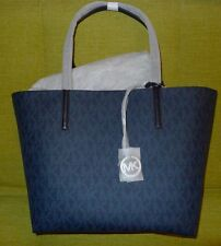 Michael Kors Hayley Large Tote Removable Pouch Signature logo ~NWT~ Blue