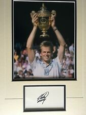 STEFAN EDBERG - GREAT SWEDISH TENNIS PLAYER - SIGNED COLOUR PHOTO DISPLAY