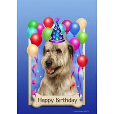 Irish Wolfhound Wheaten Happy Birthday Flag