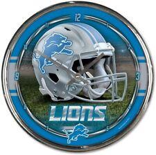 NFL Detroit Lions Horloge Murale Mur Horloge Chrome Montre Football