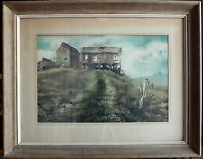 Donald Voorhees Original Watercolor 1970s