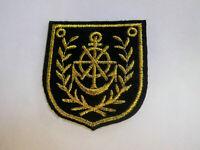 Aufnäher Anker  Patch Anchor Segeln Marine Seefahrt 7,5 x 9,2 cm
