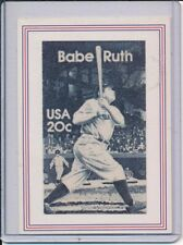 BABE RUTH YANKEES ODD BALL STAMP RETRO 1989 POSTAL BASEBALL CARD