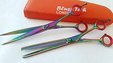"7.5"" Gift set pets grooming scissor & thinning dog cat grooming shears hair cut"
