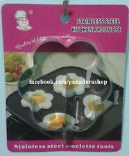 Flower Shape Bento Stainless Steel Egg Ring Mold Pancake Molder
