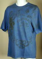 Men's CHEVIGNON Colombia Authentic Blue Legends Graphic T Shirt L