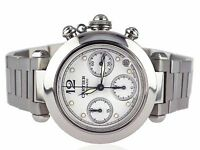 Cartier Pasha 2412 W31039M7 Stahl Automatic Chronograph Damen Herren Armbanduhr