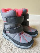 Carter's Toddler Boy's Cold Weather Snow Boots Shoes Black Gray Red, Size 9T
