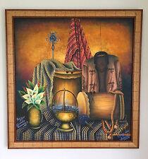 Jose Antonio Gonzalez Chavajay Traje de Sololá Mayan Art Oil Painting Guatemala