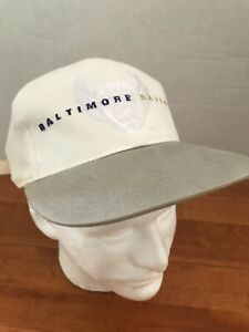 BALTIMORE RAVENS NFL FOOTBALL GREY & WHITE HAT CAP AMERICAN NEEDLE ADJUSTABLE