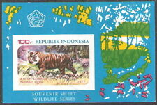 Indonesia 1978 Wildlife Protection Clouded Tiger Souvenir Sheet MNH (SC# 1035a)