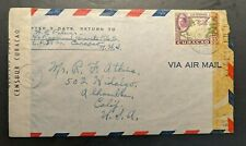 Vintage Curacao Censored Airmail Cover to Alhambra California USA