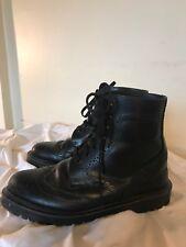 eebd0b31ac68 DR DOC MARTENS Ormond Black Leather Wingtip Lace Up Ankle Boots EU Size 39  M7 W9