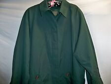 Amanda Smith Green Trench Coat Jacket with Removable Inner Thermal Lining 16