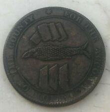 1811 Great Britain Cornish Penny Token - Fish Design