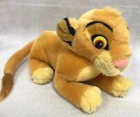 """Applause Disney Lion King Baby Simba Bean Bag Plush Stuffed Toy Vintage ~9"""" Long"""