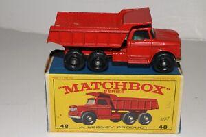MATCHBOX LESNEY #48C DODGE DUMPER TRUCK, LONG BASE, EXCELLENT, BOXED, LOT A