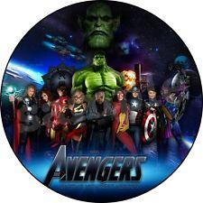 Avengers Deco Gateau Disque Azyme Comestible Anniversaire 20 cm