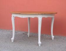 Tavolo tondo st.provenzale allungabile, ciliegio, laccato Shabby Chic, D.119 cm!