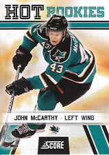 10/11 SCORE HOT ROOKIE RC #546 JOHN MCCARTHY SHARKS *3487