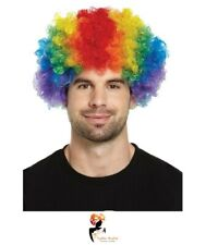 CURLY RAINBOW AFRO WIG Pride Fancy Dress Party Costume Clown Hair Funky Disco