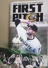 Charlotte Knights Program featuring Lucas Giolito White Sox