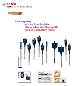 Bosch Flat Wood Drill Bit SPEED Cut Holesaw Self Grab Cut Threaded Tip 6mm-40mm