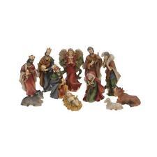 11 schöne Krippenfiguren als Weihnachtsgruppe