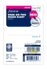 More details for filofax 2022 pocket size diary - week on two pages organiser refill 22-68221