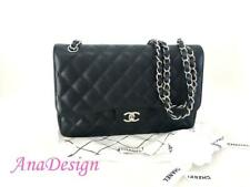 3b3333bce76f Chanel Classic Jumbo Black Caviar Double Flap SHW w/Authenticity Cert