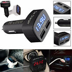 Universal 4in1 Dual USB Car Charger Adapter Voltage DC 5V 3.1A Tester For iPhone