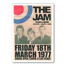 More details for the jam poster, paul weller poster, the jam print, repro poster, gift for him