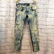 Women's Diesel MATIC Sz 27 Slim Tapered Distressed Acid Wash Jeans