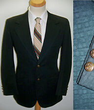 40S VTG 1970s MOD Green Textured Reefer Polyester Mens Golf Blazer MAD Jacket