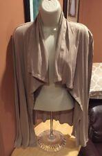 Michael Stars Tan Long Sleeve Supima Cotton Cardigan Sweater One Size