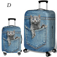 18''-32'' Dog Cat Print Elastic Travel Luggage Suitcase Protective Cover Case